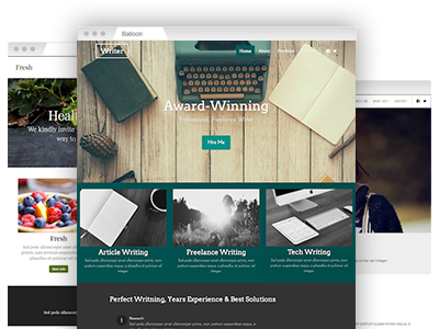 An array of easy–to–customize website themes